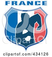 Royalty Free RF Clipart Illustration Of A France Rugby Icon 3 by patrimonio