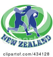 Royalty Free RF Clipart Illustration Of A New Zealand Rugby Icon 4 by patrimonio
