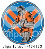 Royalty Free RF Clipart Illustration Of A Rugby Player Icon 9