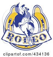 Rodeo Cowboy Icon 2