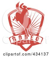Royalty Free RF Clipart Illustration Of A Rodeo Cowboy Icon 3