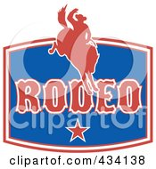 Royalty Free RF Clipart Illustration Of A Rodeo Cowboy Icon 1