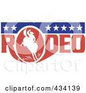 Royalty Free RF Clipart Illustration Of A Rodeo Cowboy Icon 5