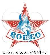 Royalty Free RF Clipart Illustration Of A Rodeo Cowboy Icon 4