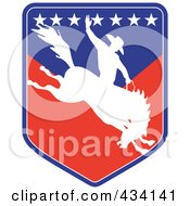 Royalty Free RF Clipart Illustration Of A Rodeo Cowboy Icon 6