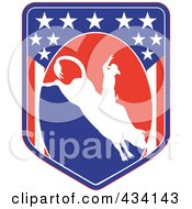 Royalty Free RF Clipart Illustration Of A Rodeo Icon 7