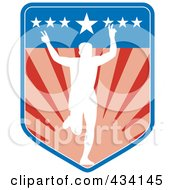 Royalty Free RF Clipart Illustration Of A Marathon Run Icon 5