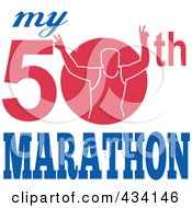 Royalty Free RF Clipart Illustration Of A Marathon Run Icon 3