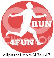 Royalty Free RF Clipart Illustration Of A Marathon Run Icon 7