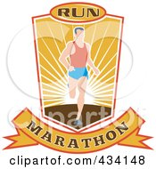 Royalty Free RF Clipart Illustration Of A Marathon Run Icon 6