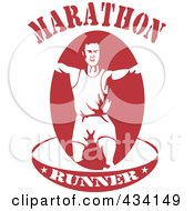 Royalty Free RF Clipart Illustration Of A Marathon Run Icon 8