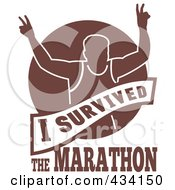 Royalty Free RF Clipart Illustration Of A Marathon Run Icon 4
