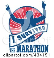 Royalty Free RF Clipart Illustration Of A Marathon Run Icon 1
