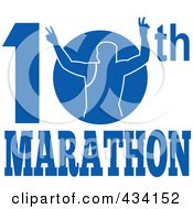 Royalty Free RF Clipart Illustration Of A Marathon Run Icon 2