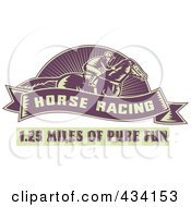 Royalty Free RF Clipart Illustration Of A Horse Racing Icon