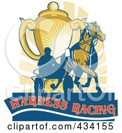 Royalty Free RF Clipart Illustration Of A Harness Racing Icon by patrimonio