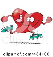 Royalty Free RF Clipart Illustration Of A Running Heart by toonaday