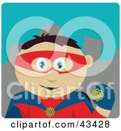 Clipart Illustration Of A Mexican Super Hero Man In A Costume