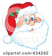 Royalty Free RF Clipart Illustration Of A Santa Face by Hit Toon