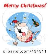 Royalty Free RF Clipart Illustration Of A Drunk Santa 4