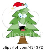 Royalty Free RF Clipart Illustration Of A Pine Tree 5