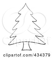 Royalty Free RF Clipart Illustration Of A Pine Tree 1 by Hit Toon #COLLC434379-0037
