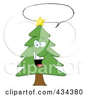 Royalty Free RF Clipart Illustration Of A Pine Tree 7