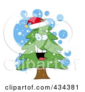 Royalty Free RF Clipart Illustration Of A Pine Tree 8