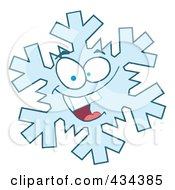 Royalty Free RF Clipart Illustration Of A Snowflake Character 2 by Hit Toon