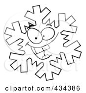 Royalty Free RF Clipart Illustration Of A Snowflake Character 1 by Hit Toon