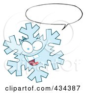 Royalty Free RF Clipart Illustration Of A Snowflake Character 3 by Hit Toon