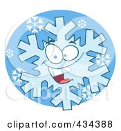 Royalty Free RF Clipart Illustration Of A Snowflake Character 4 by Hit Toon