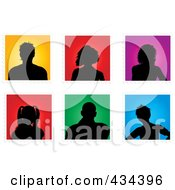 Digital Collage Of Colorful People Avatar Stamps
