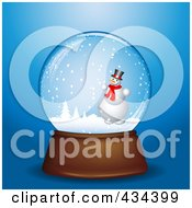 Royalty Free RF Clipart Illustration Of A Digital Collage Of A Snowman In A Winter Snowglobe