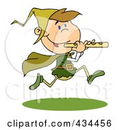 Royalty Free RF Clipart Illustration Of A Piper Piping