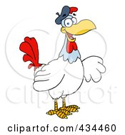 Royalty Free RF Clipart Illustration Of A French Hen by Hit Toon