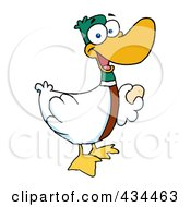 Royalty Free RF Clipart Illustration Of A Laying Goose by Hit Toon