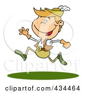 Royalty Free RF Clipart Illustration Of A Lord Leaping by Hit Toon