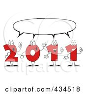 Royalty Free RF Clipart Illustration Of 2011 New Year Characters 2 by Hit Toon