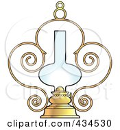 Royalty Free RF Clipart Illustration Of An Ornate Lamp by Lal Perera