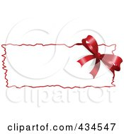Royalty Free RF Clipart Illustration Of A Christmas Bow Label