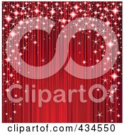 Royalty Free RF Clipart Illustration Of A Christmas Background Of Sparkles Arching Around Red Ripples