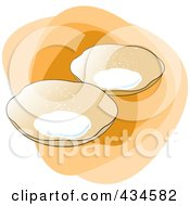 Royalty Free RF Clipart Illustration Of Sri Lankan Hoppers Food by Lal Perera