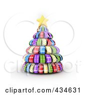 Royalty Free RF Clipart Illustration Of A Patterned Ribbon Christmas Tree