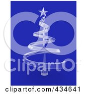 Royalty Free RF Clipart Illustration Of A 3d Transparent Glass Christmas Tree