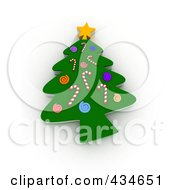 Royalty Free RF Clipart Illustration Of A 3d Cookie Christmas Tree