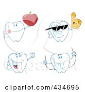Royalty Free RF Clipart Illustration Of A Digital Collage Of Tooth Characters 2