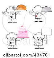 Royalty Free RF Clipart Illustration Of A Digital Collage Of Chef Hat Characters