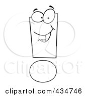 Royalty Free RF Clipart Illustration Of An Exclamation Point Character 1 by Hit Toon