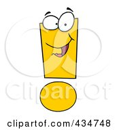 Royalty Free RF Clipart Illustration Of An Exclamation Point Character 2 by Hit Toon